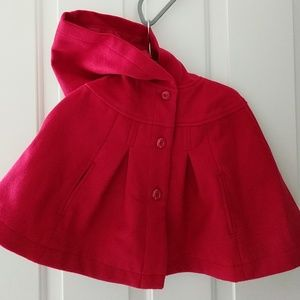 Hooded Cape Style Coat